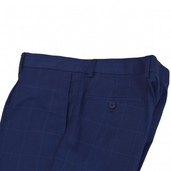 Pantalone fresco lana Galles coperto blu Snoopy