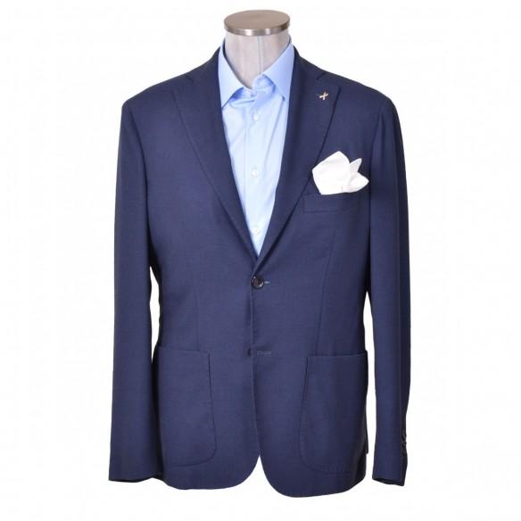 Giacca blazer frescolana blu Alema
