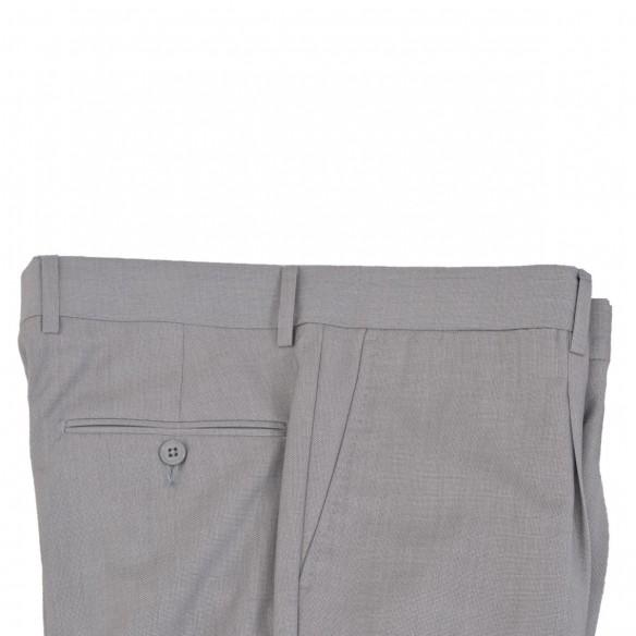 Pantalone in lana ed elastan microtramatura Ghiaccio Chi
