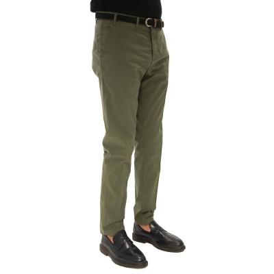Pantalone in cotone ed Elastan colore verde CF