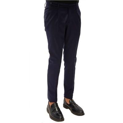Pantalone in lana ed elastan blu Tefl