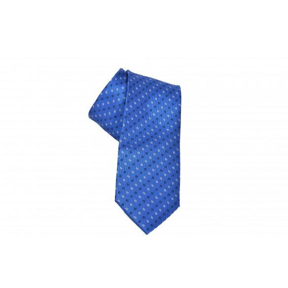 Cravatta SkyBlue con finiture a rombi