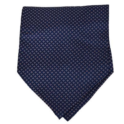 Cravatta Ascot Blu Fantasia punti grigio
