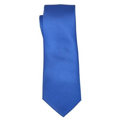 Cravatta bluette microfantasia