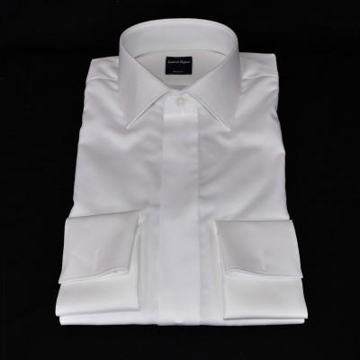 Camicia polso doppio bianco 0280/10