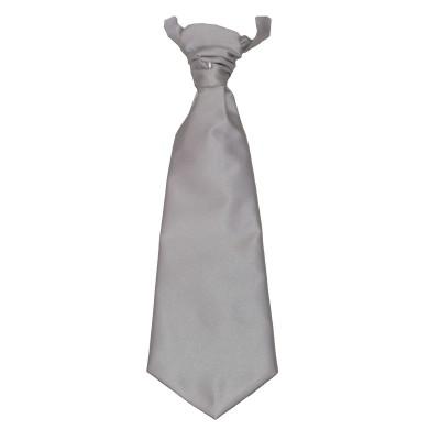 Plastron grigio perla pala larga
