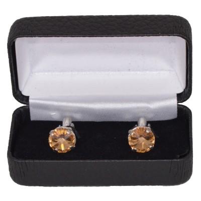 Gemelli con pietra dorata