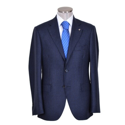 Giacca puro Cashmere blu