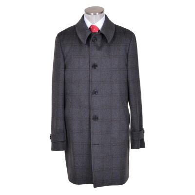 Trench in lana e cashmere grigio