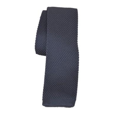 Cravatta in lana e seta grigio
