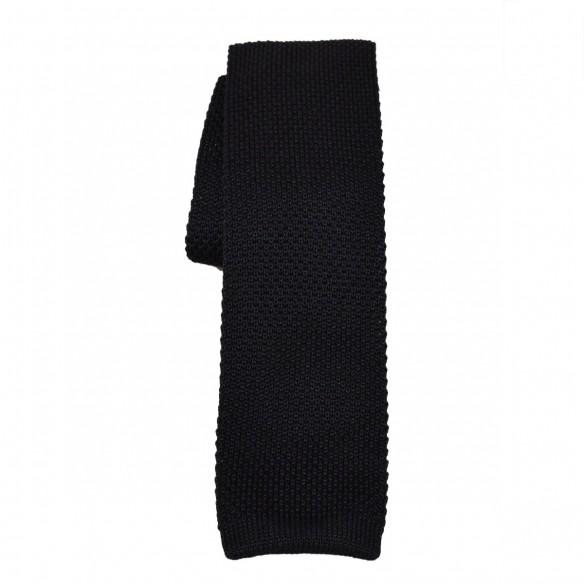 Cravatta in lana e seta nero