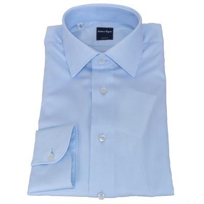 Camicia in cotone Oxford azzurra 6073