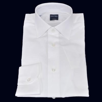 Camicia in cotone e elastan bianco 5057